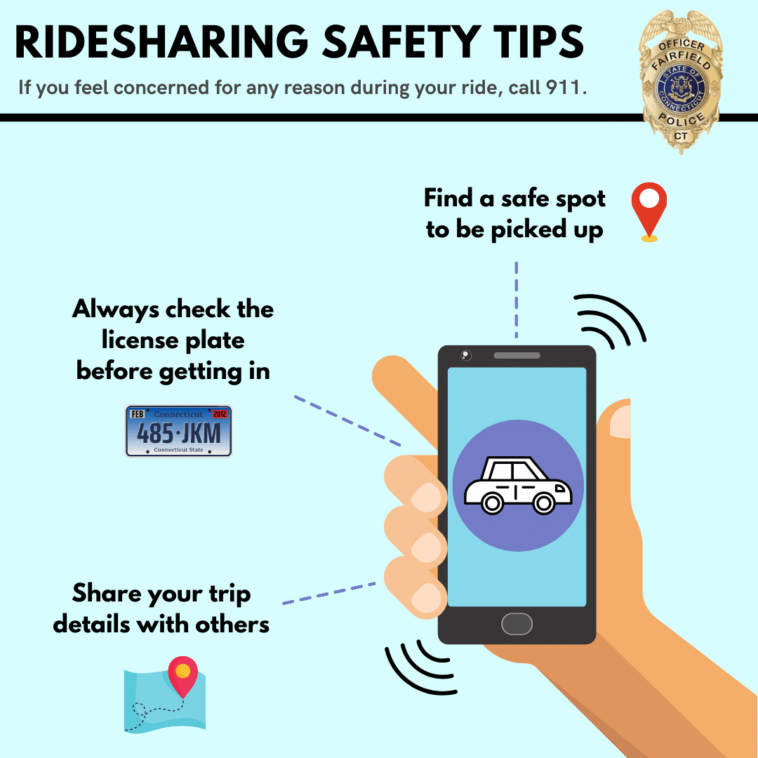 Fairfield Police Advise Residents to Use Caution When Using Ride-Sharing Services During National Crime Prevention Month